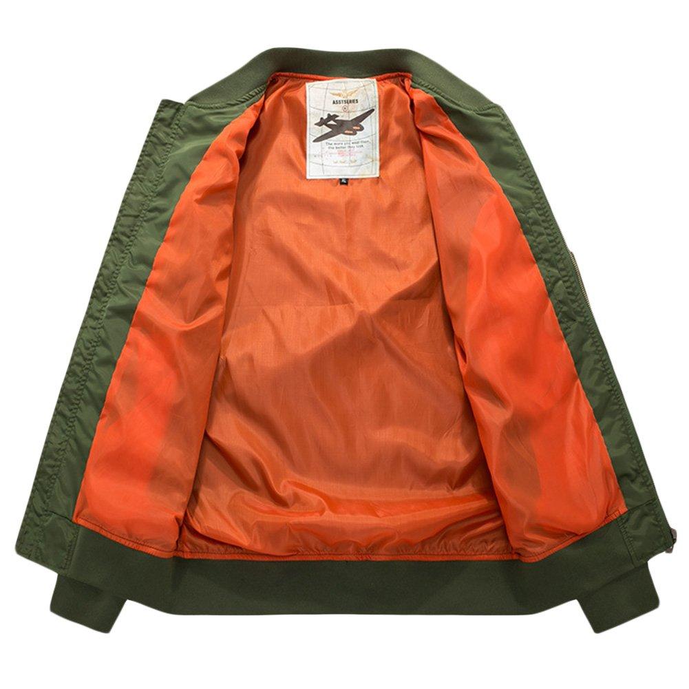 Amazon.com: Sandbank USA Flag MA-1 Flight Bomber - Chaqueta ...