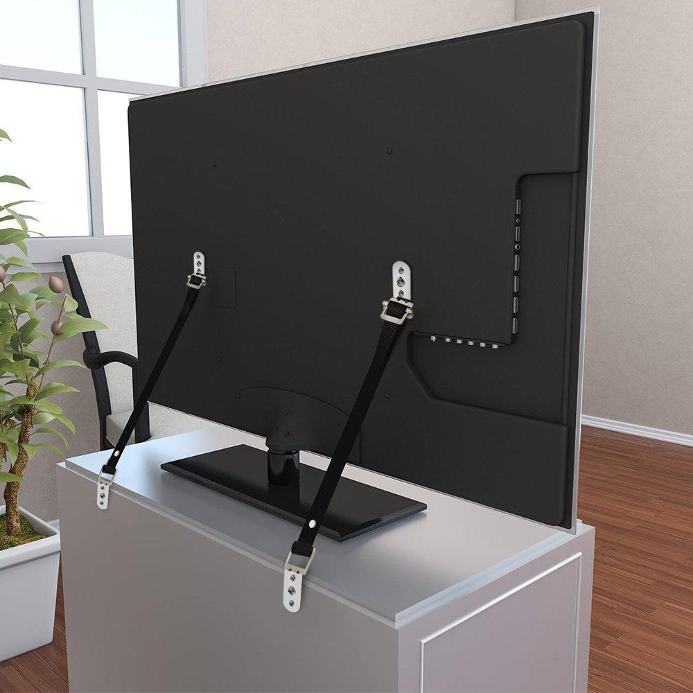 2 correas Tip Correas Correa para TV de Pantalla Plana//Muebles La Seguridad del Bebe Metal TV Correas DD Muebles Pesados Anti