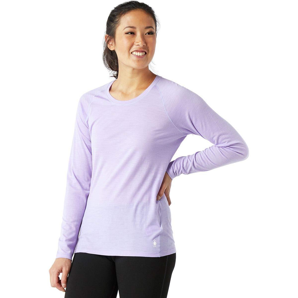 SmartWool Women's Merino 150 Baselayer Pattern Long Sleeve Cascade Purple Small