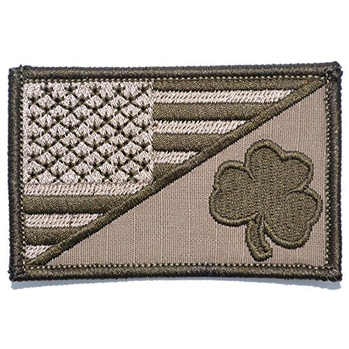 Shamrock USA Flag 2.25 x 3.5 inch Morale Patch - Coyote Brow