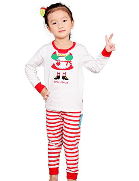 Image Unavailable. Image not available for. Color  CM-Kid Girls Clothes Red  White Striped Pajamas Set Long Sleeve ... 3247ab665
