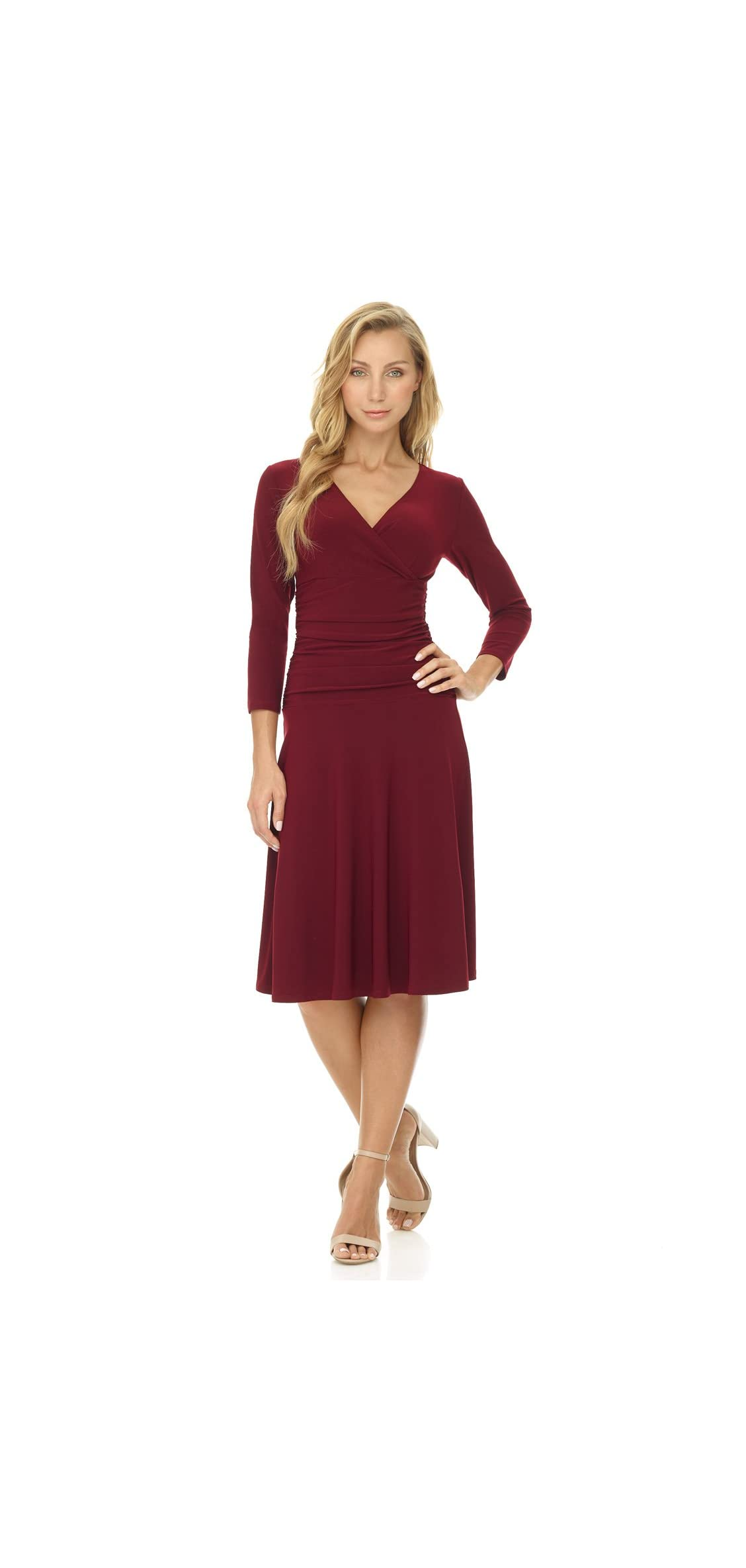 Women's Slimming / Sleeve Fit-and-flare Crossover