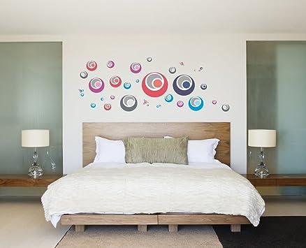 ufengke® creative palle bolla cerchi colorati adesivi murali ... - Pareti Camera Da Letto Colorate