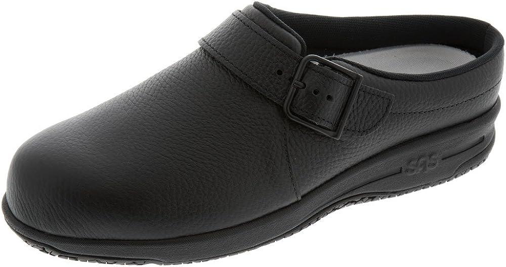 SAS Womens Clog-Slip Resistant Black