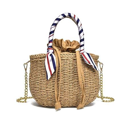 375086bb2839 Amazon.com: SHZONS Bamboo Handbag, Handmade Woven Tote Purse Straw ...