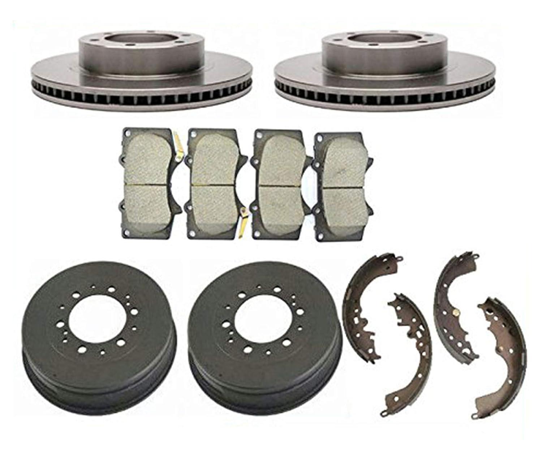 Front Brake Disc Rotor Rotors Ceramic Pads for 05-14 Toyota Tacoma 6 Lug Wheels