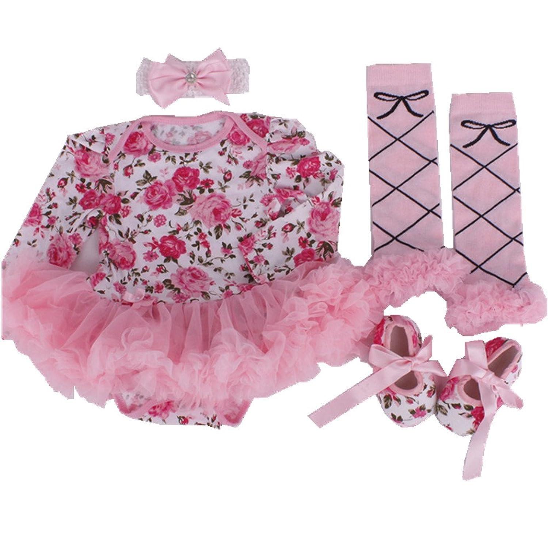 ebfe562a46d4c Anik Sunny Fleur pour nouveau-né bébé fille Robe Little Dress Up Body  Combinaison Parti