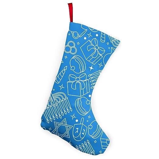 Hanukkah Christmas Stocking.Amazon Com Happy Hanukkah Celebration Pattern Christmas