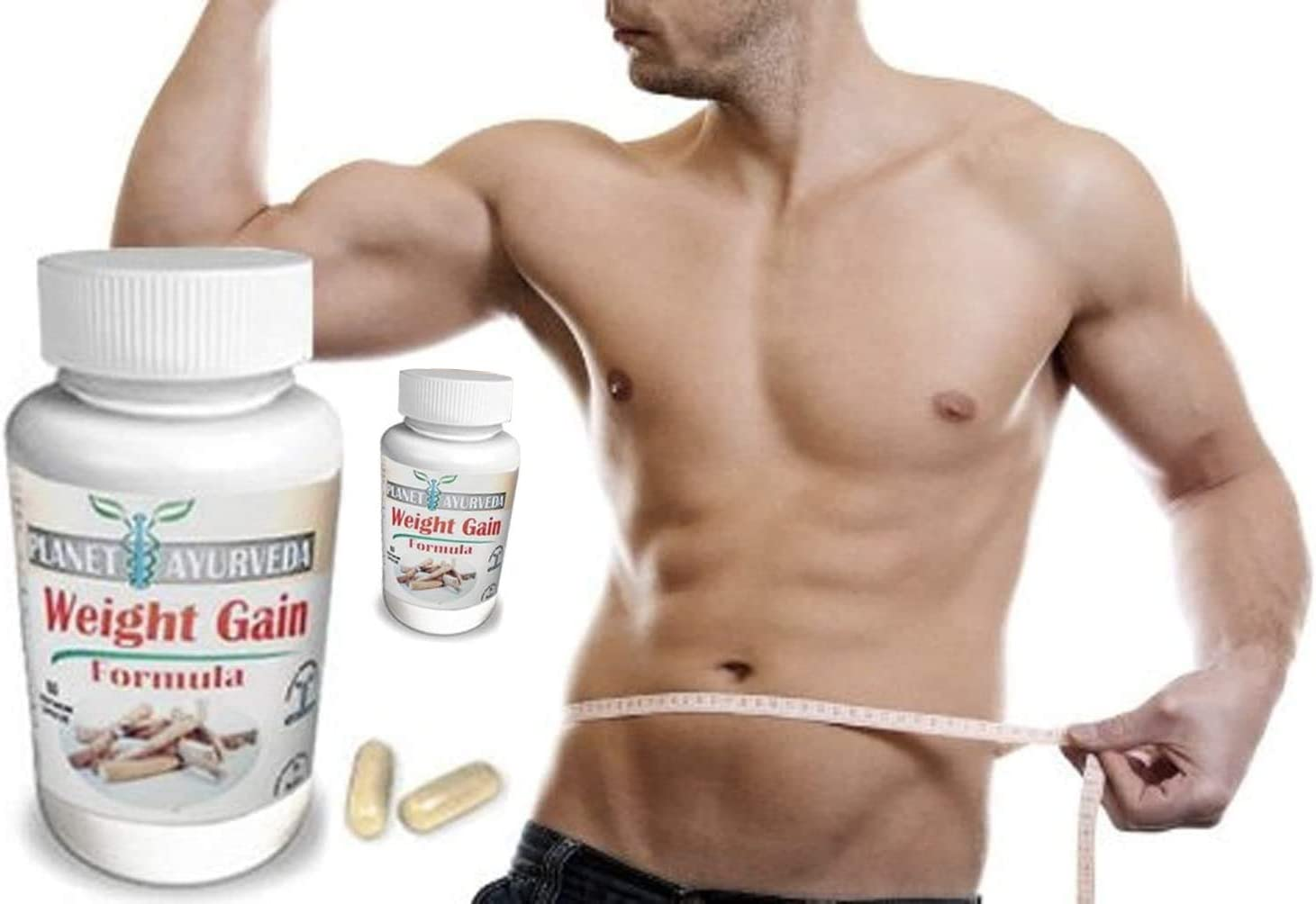 1, 2, 3 or 4 Pack. GAIN Mass Men 60 Tablets. Planet Ayurveda Weight Gain. Mass Gainer Formula Gain Weight Men. Gain Mass Quickly Pills to gain Weight for Men. Gain True Mass Easily (2 Bottle Pack)