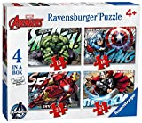 Avengers 4 in a Box Puzzles Featuring Captain America The Hulk Iron Man and Thor