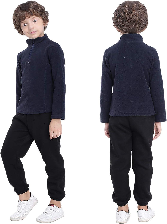 GAZIAR Boys Fleece Jacket Soft Fleece Full Zip Hoodies with Classic Fit
