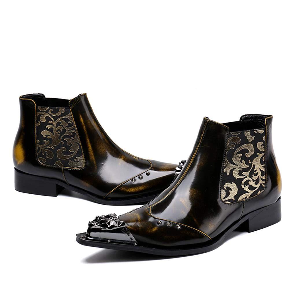 Mr.Zhangs Art Home Mens shoes Botines para Hombre Discoteca Caballero Caballero Hombre Botas marrón: Amazon.es: Hogar