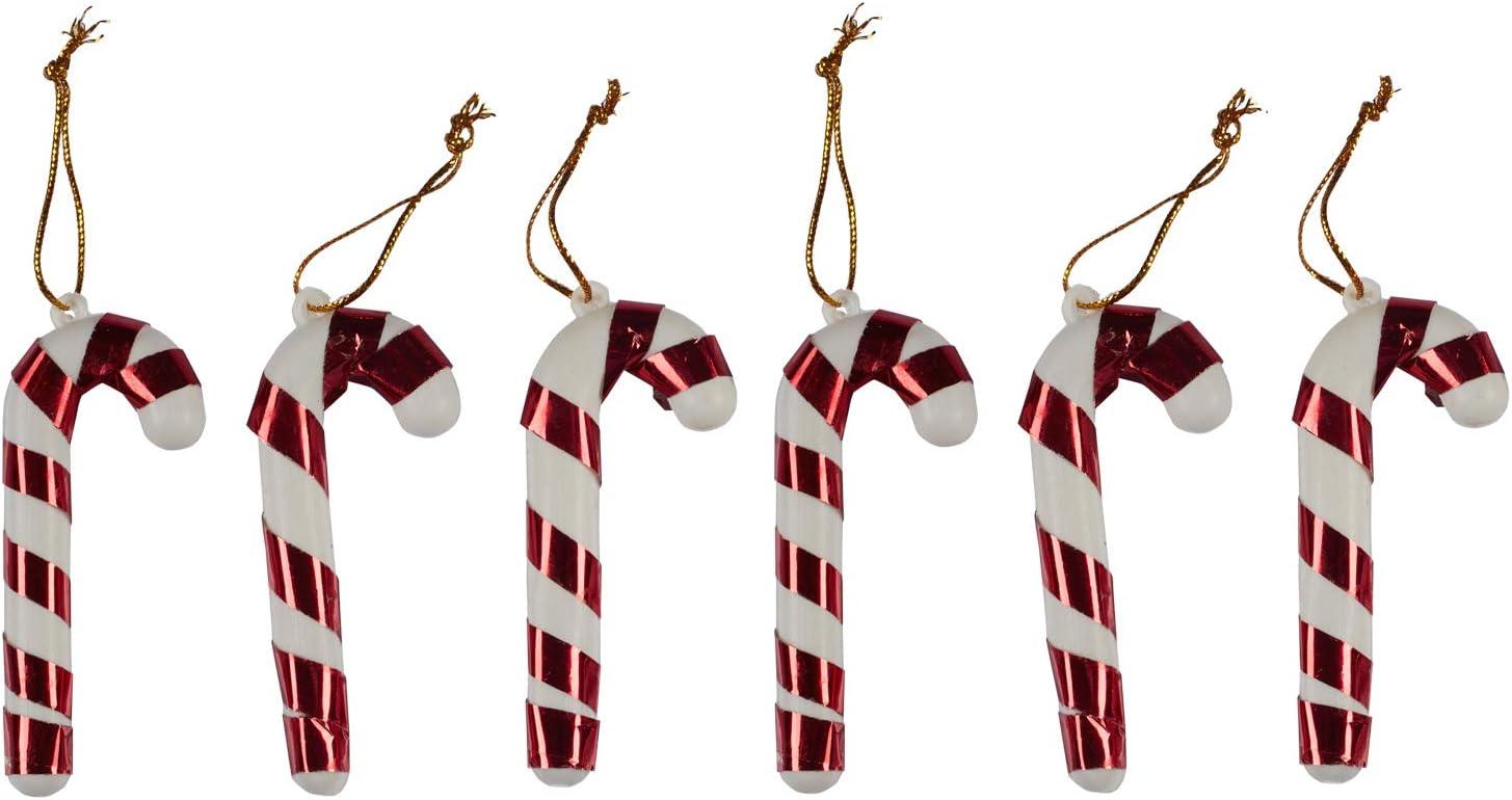 4Pcs 3D Christmas Candy Cane Pendant Hanging Ornament Good Xmas Decor Tree P2Y3