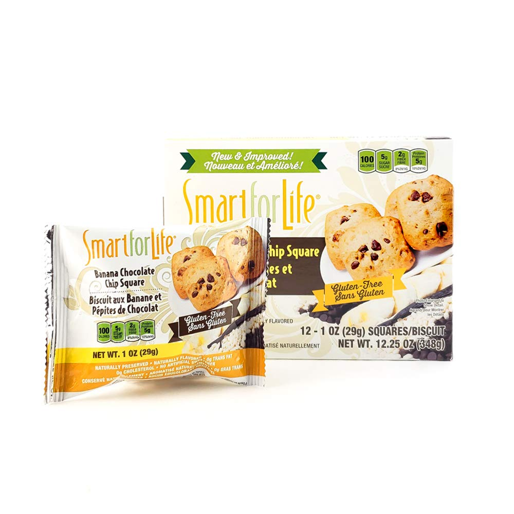 Smart for Life 3-12ct Gluten Free Banana Chocolate Chip Granola Square by Smart for Life