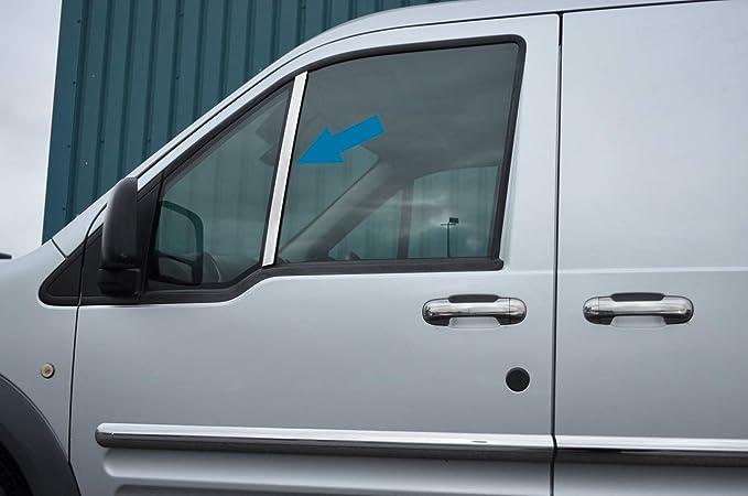 Cubiertas de cromo para ventana vertical para adaptarse a Transit Connect (2002 - 12): Amazon.es: Coche y moto