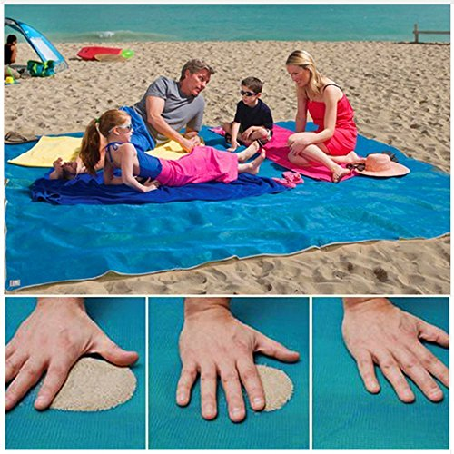 "KEKH Sand Free Beach Blanket, Sand Proof mat is easy to clean and dust prevention, perfect for the Outdoor Events with your family (79"" x 57"")"
