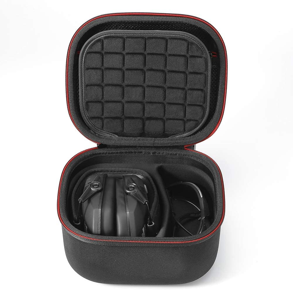 Case Only! Hard Travel Carrying Case for Walkers Razor Slim Passive Earmuffs Ultra Low Profile 27dB NRR. -Black