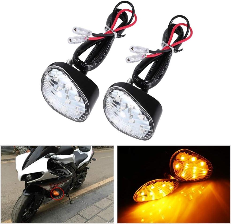 Duokon Turn Signal LED Indicator Light Lamp,Amber Flush Mount LED Turn Signal For Yamaha YZF R1 R6 FZ1 FZ6