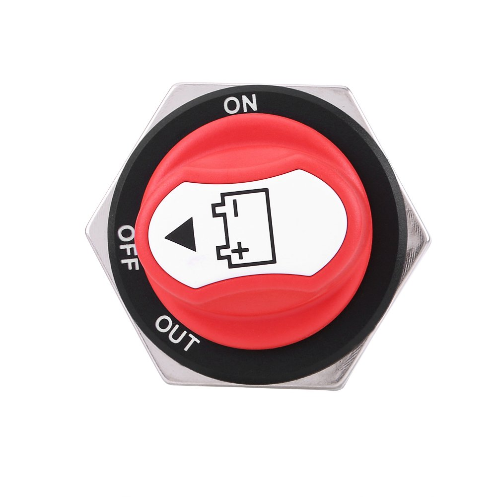 Cuque Car Battery Switches Continuous Rating 200Amps Intermittent Rating 300Amps Battery Cut Off Switch Car Battery Disconnect Switch Battery Isolator Switch for Cars Offroad Vehicle Truck Vehicles