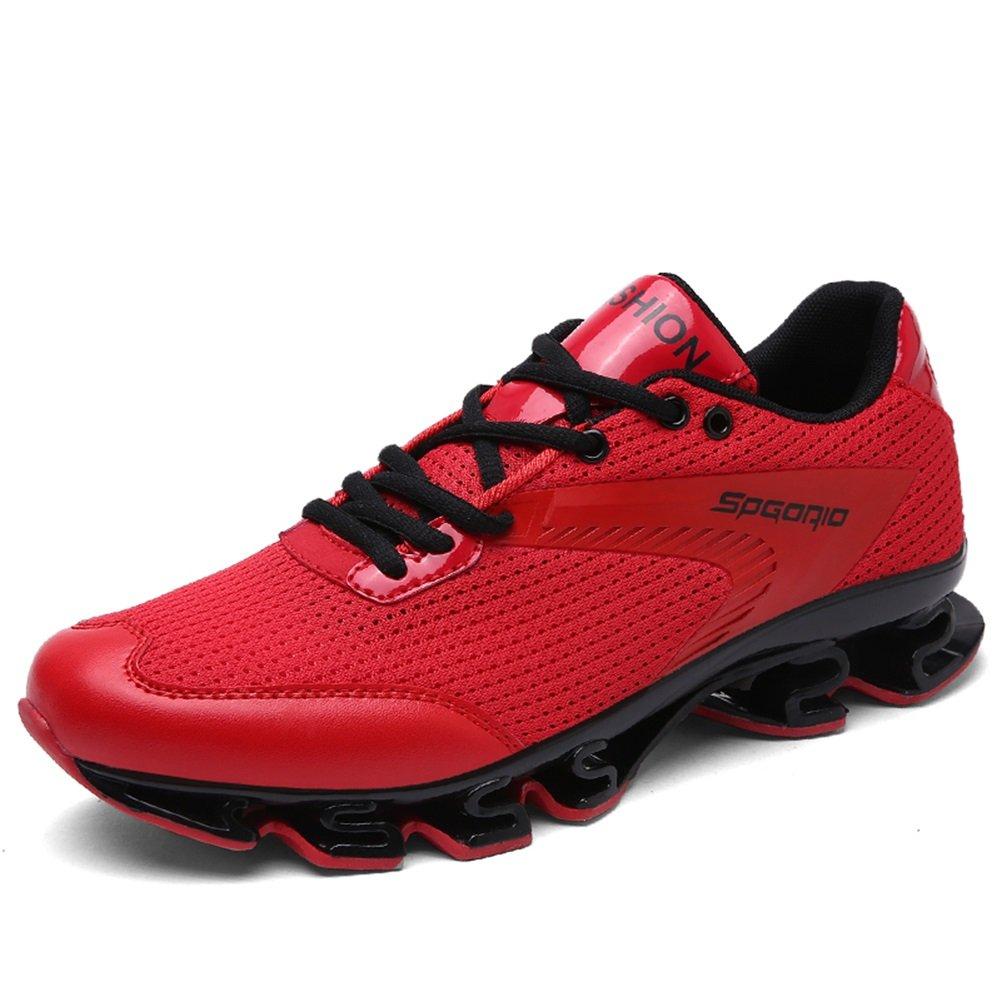 HUAN Zapatos de Hombre Tulle Primavera Otoño Confort Zapatos Atléticos Zapatos de Baloncesto Botas de Media Pierna con Cordones Para Atlético Casual Al Aire Libre 40 EU|Rojo
