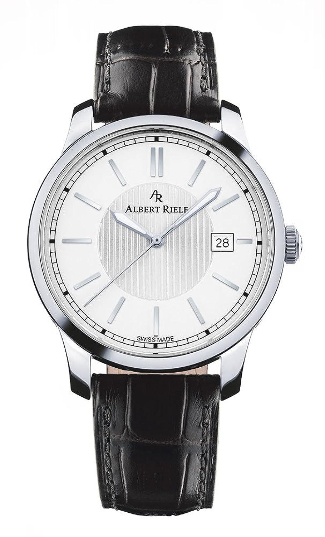 Albert Riele Herren Armbanduhr CONCERTO Analog Quarz schwarzes Lederarmband 206GQ02-SS33I-LB