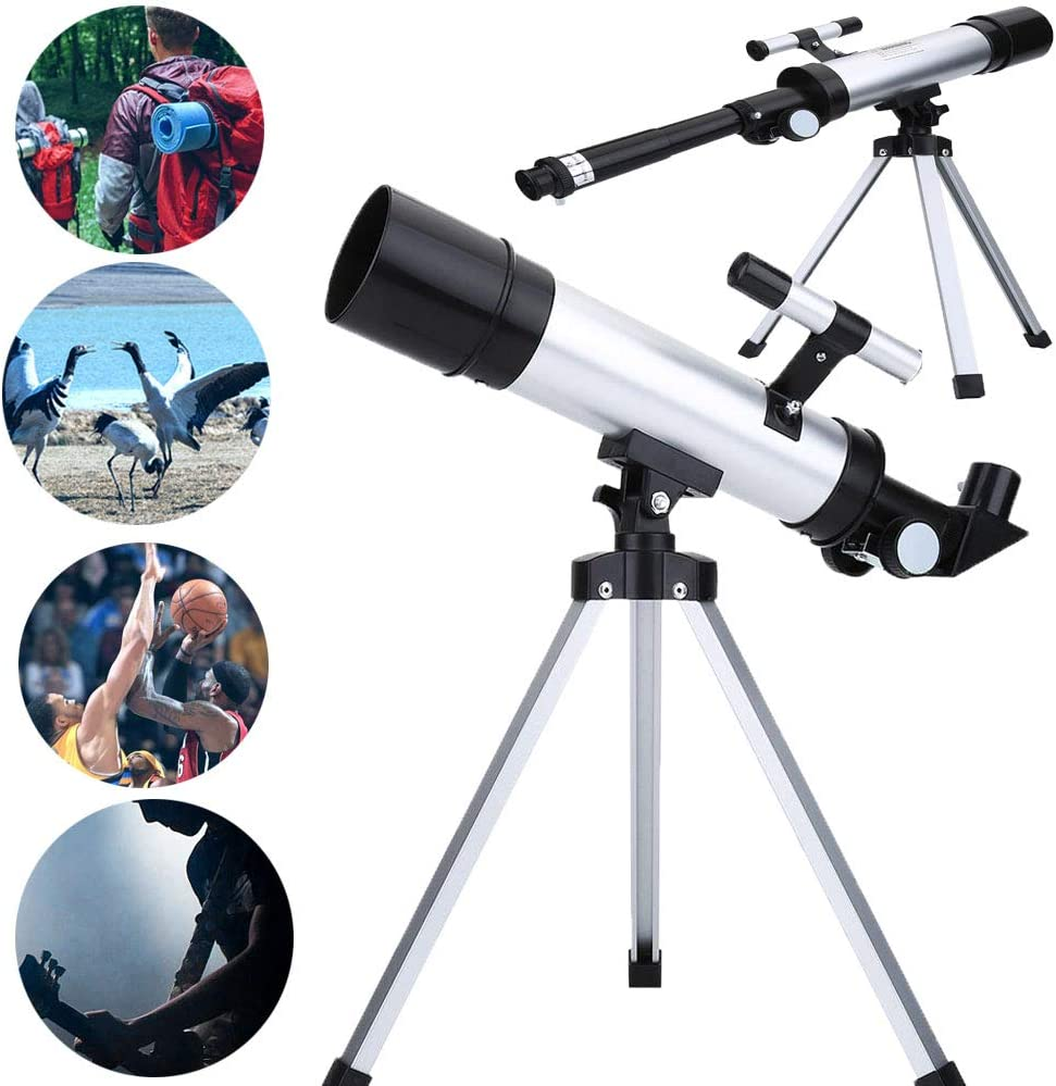 Topiky 90X Monocular Telescope Astronomical Space Scope Refractor for Astronomy Observation//Land Use with 50mm Multicoated Optical Glass with Orthogonal Lens//1.5X Barlow lens//Finderscope//Eyepiece