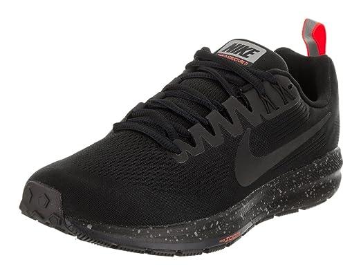 b4a2fd02c6c59 Nike Women s Air Zoom Structure 21 Shield Black Black Black Obsidian  Running Shoe