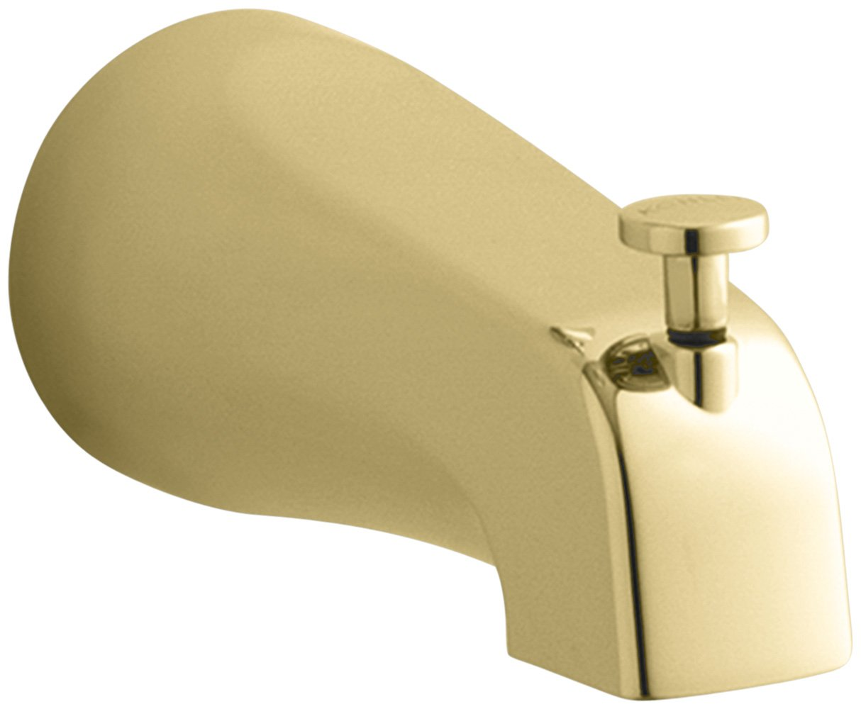 Kohler K-15136-S-PB Coralais Diverter Bath Spout with Slip-Fit Connection, Vibrant Polished Brass by Kohler