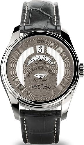 Armand Nicolet HS2 automático Jumping Hour a136aaa de gr de p974gr2: Amazon.es: Relojes