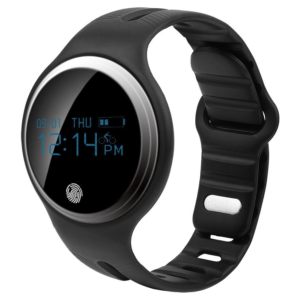 Smart Blutooth Watch GPS IP67 Waterproof Sports Fitness Tracker Watch Bracelet,Black, System Support iOS & Android, for Men Women(Black)