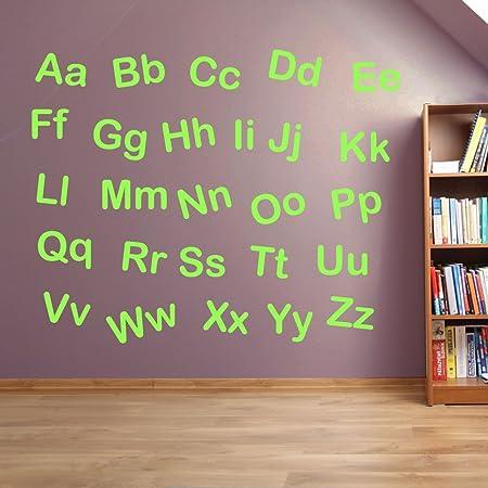 Alphabet letters kids nursery play room wall decorations window stickers wall decor wall stickers wall art