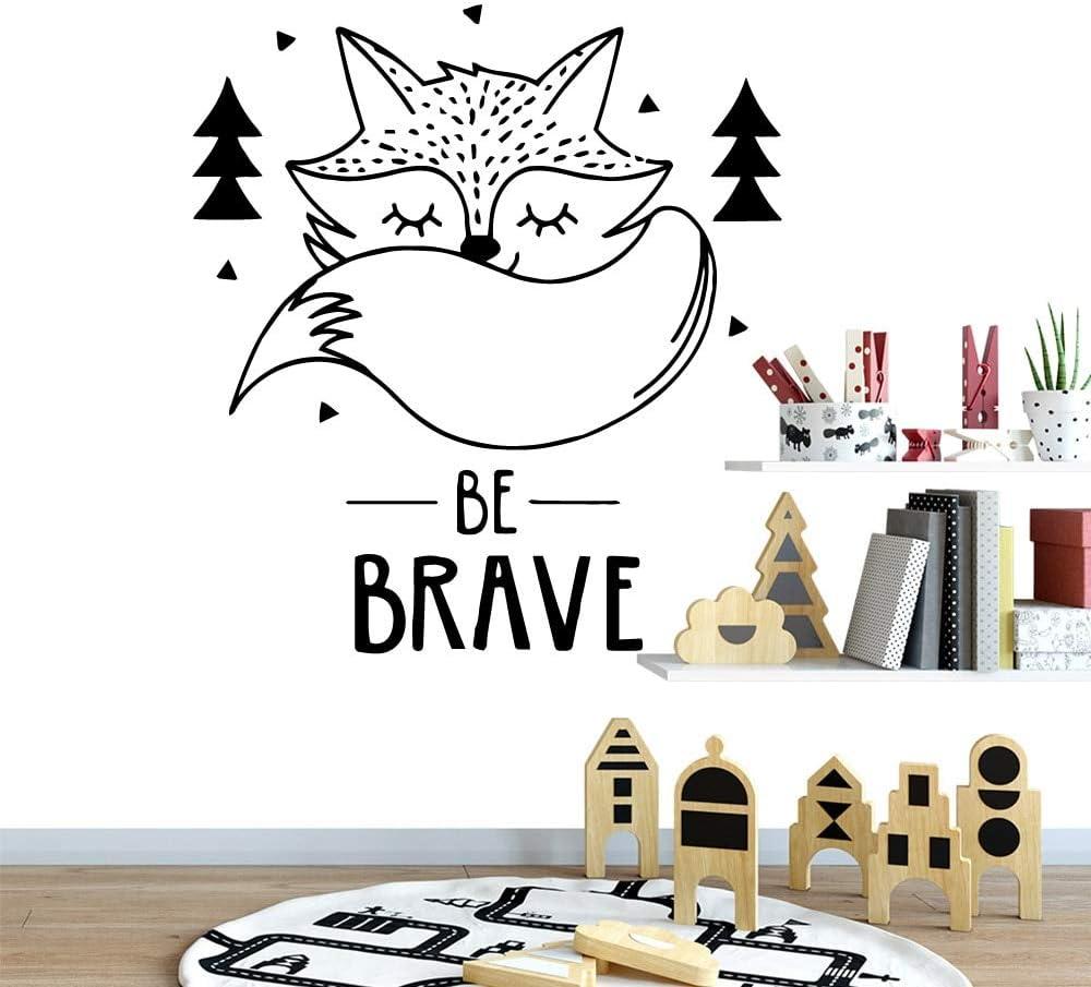yaofale Beauty is The Brave Fox Vinilo Etiqueta de la Pared Papel Tapiz para niños decoración de la habitación decoración de la Etiqueta engomada