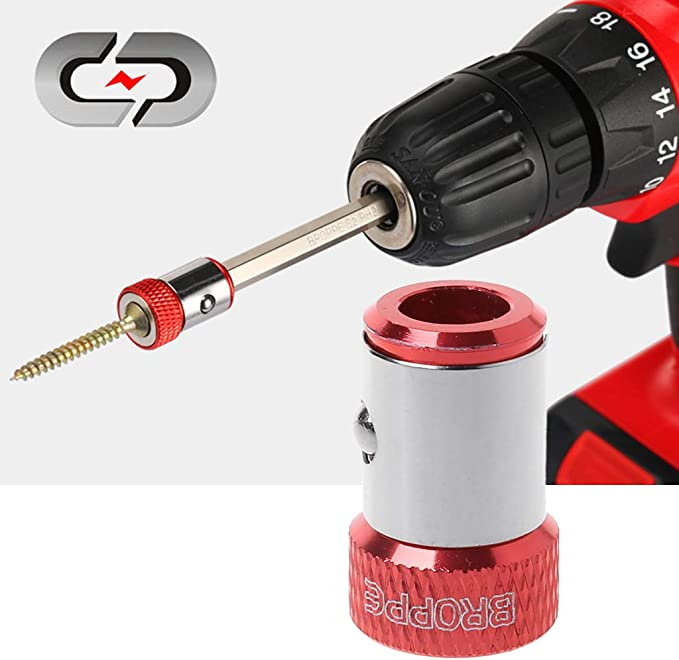 20mm Long Screwdriver Ring Aluminum Alloy Magnetic Tool Attachment Head Durable