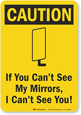 Caution If You Cant See My Mirrors I Cant See You Truck Safety