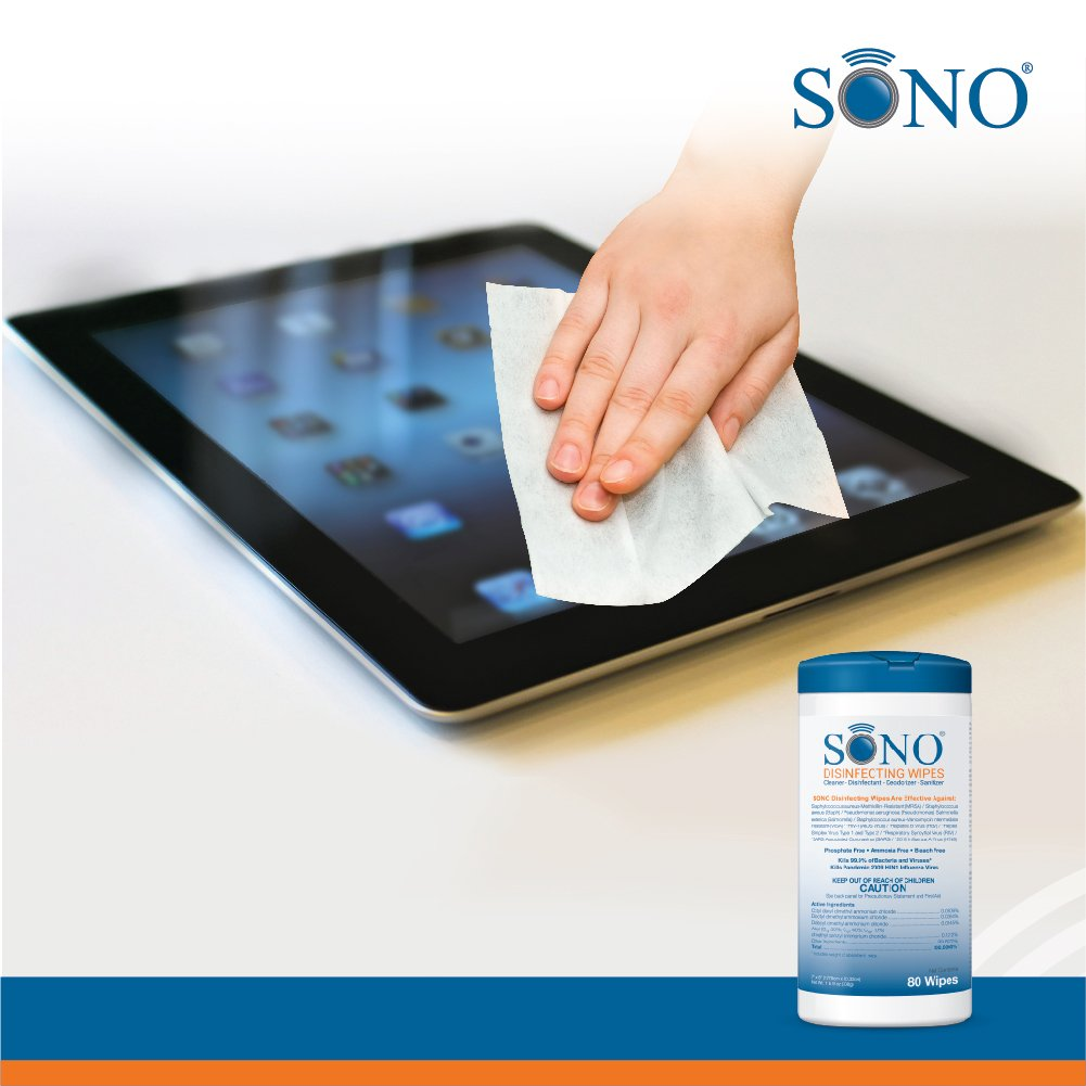 6-Pack Medical Grade Disinfecting Wipes – Bleach-Free, Multi-Surface Wipes Used By Healthcare Professionals (6 Packs of 80 Wipes) by SONO (Image #5)
