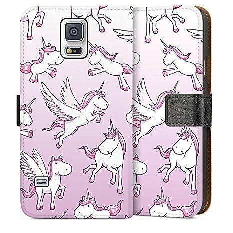 35ad214fe20 Carcasa para Samsung Galaxy S2 - Carcasa Unicorn unicornio caballo niñas,  plástico policarbonato, Sideflip Tasche, Samsung Galaxy S5: Amazon.es:  Electrónica