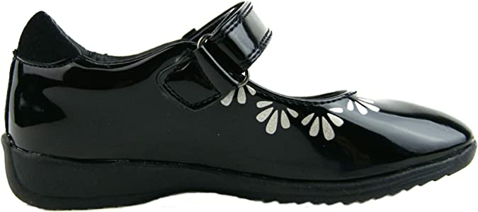 Shimmer and Shine School Shoes Girls Black Patent Formal Mary Janes Kids Size