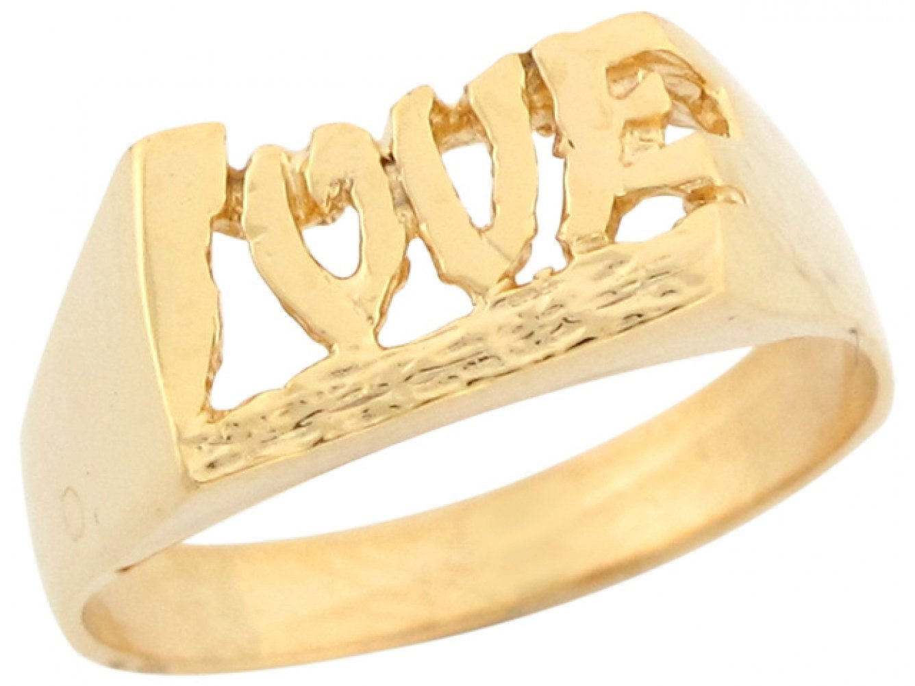 10k Real Yellow Gold Love Designer Mens Pinky Ring by Jewelry Liquidation (Image #2)