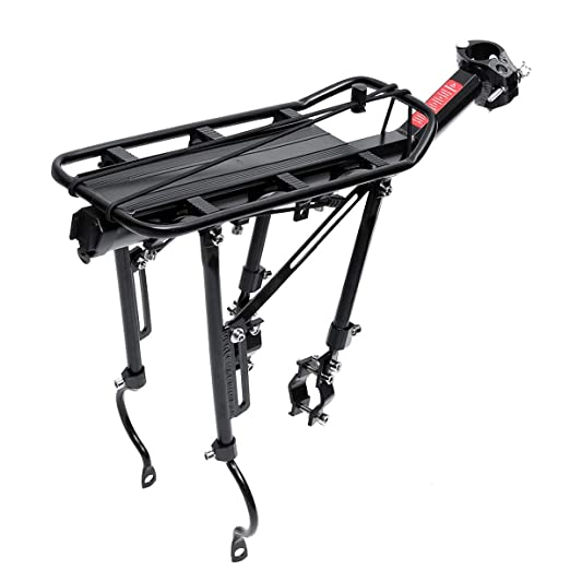 Amazon Com Gold Happy 90kg Aluminum Bicycle Luggage Carrier