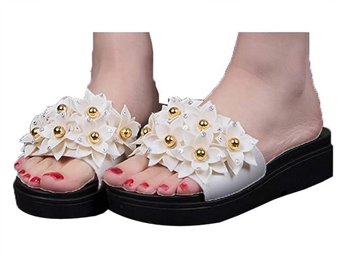 5356cbfb1bbab Amazon.com: Fainosmny Womens Shoes Platform Slippers Summer Sandals ...