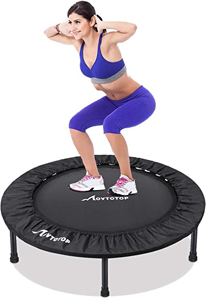 38 Inch Small Mini Trampoline Fitness Exercise Gym Indoor Outdoor Jumper Round