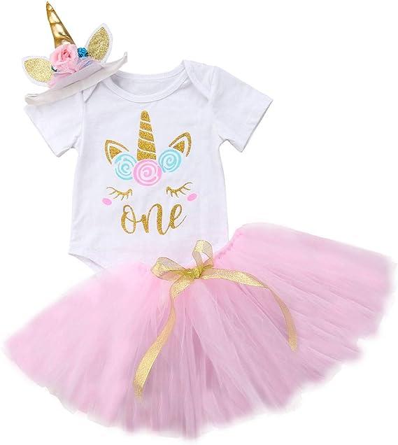 Amazon.com: Vestido de tutú para bebé y niña de 1er ...