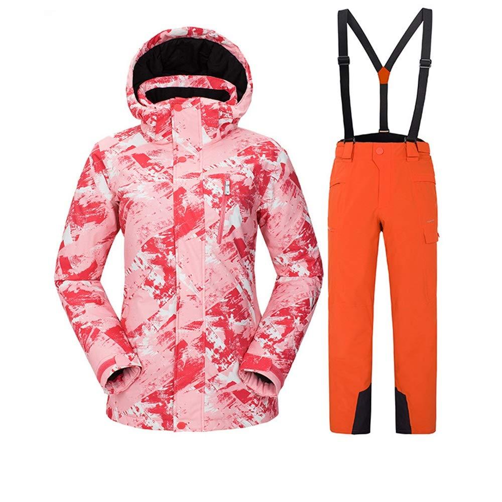 AUMING Skianzug Skijacke Wasserdichte atmungsaktive helle Farbe Ski Jacke Winddicht Winterjacken Schnee Skihose Set für Frauen (Farbe : C8, Größe : M)