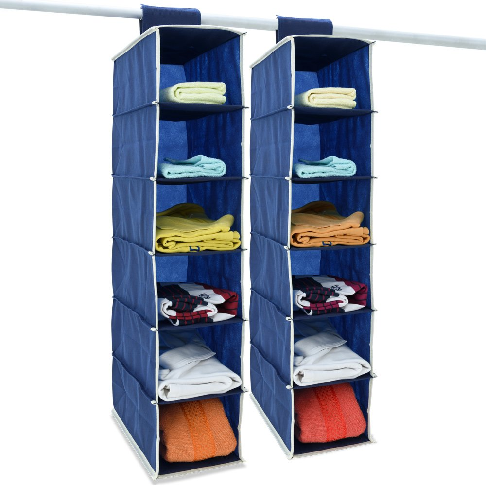 Deuba 2x Etag/ères rangement armoire suspendue 6 compartiments anthracite//blanc camping