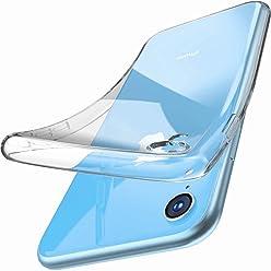 Girlscases® | iPhone XR Hülle | Case Schutzhülle aus Silikon Transparent Crystal Clear Ultra Dünn durchsichtige Silikon Schutzhülle aus TPU für iPhone-XR