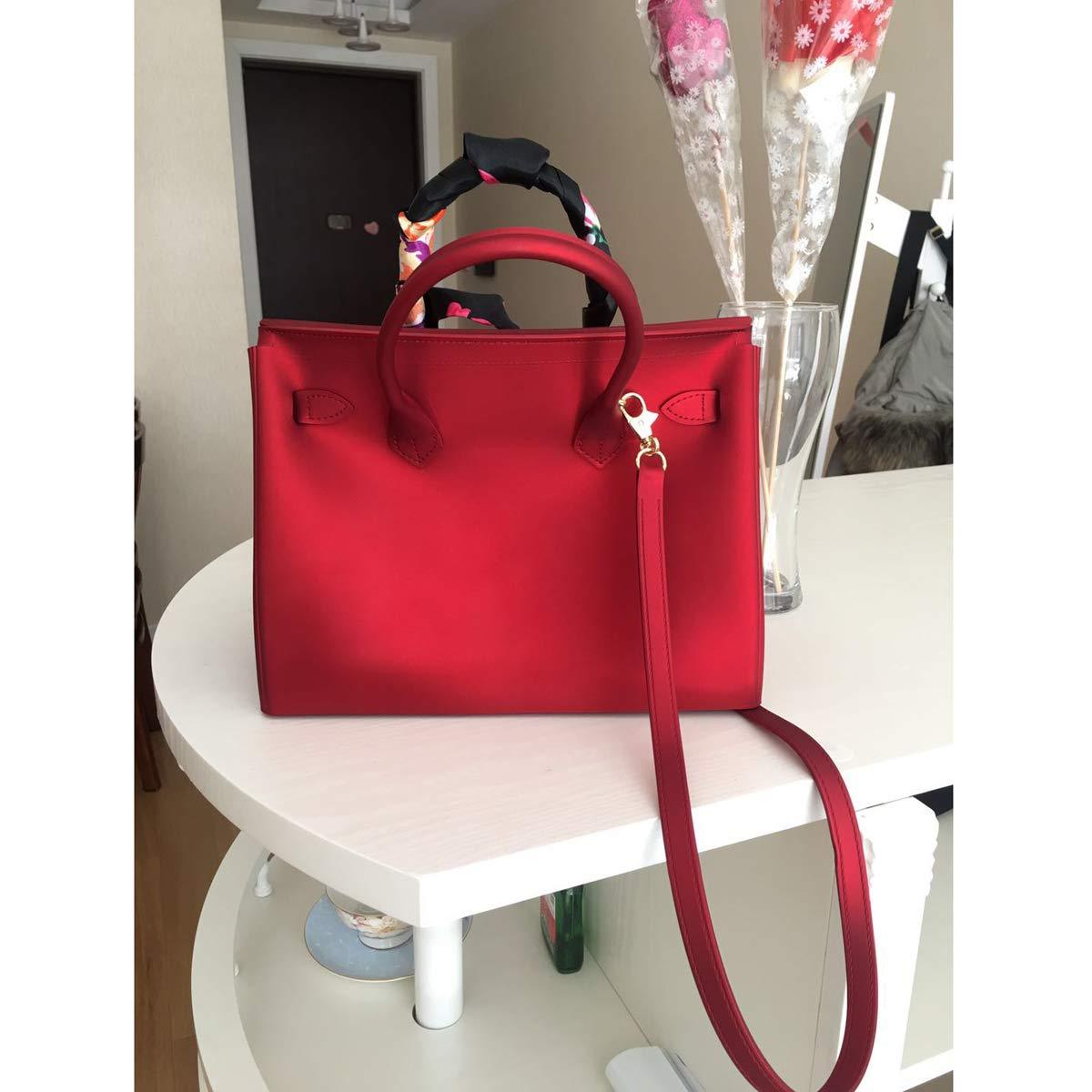 dee8a1da0db2f ... Frauentasche bereifte Geleebeutel-Umhängetasche große Kuriertasche  Kuriertasche Kuriertasche Handtasche (Rosa Gold (zipper) ...