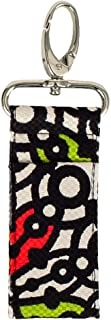 product image for Lip Balm Keeper by Stephanie Dawn, Made in USA, Lip Product USB Holder, Cotton Fabric, Metal Swivel Clasp, Keychain, Small Accessory, Washable (Carousel)