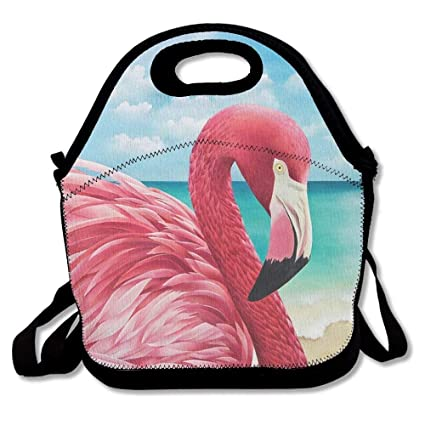 d5577372db8b Amazon.com: Lunch Boxes Pink Flamingo Lunch Tote-Personalized Lunch ...