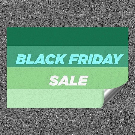 CGSignLab |''Black Friday Sale -Modern Gradient'' Heavy-Duty Industrial Self-Adhesive Aluminum Wall Decal | 27''x18''