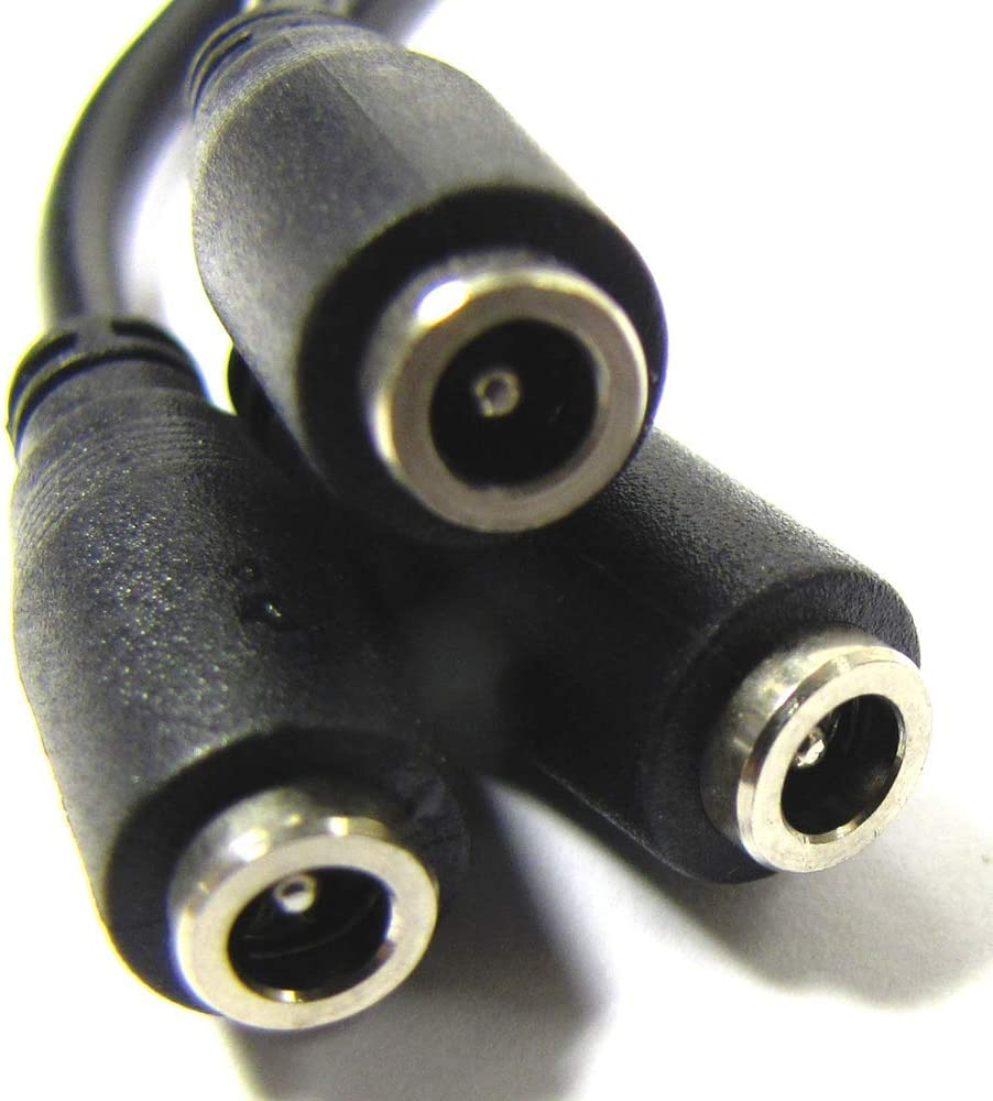 BeMatik Cable multiplicador de alimentaci/ón de 3 DC-Jack Hembra de 3,5mm